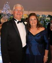 Robert and Rhoda Bethard, parents of bride Kara Bethard, at the wedding reception at their Coushatta Home.