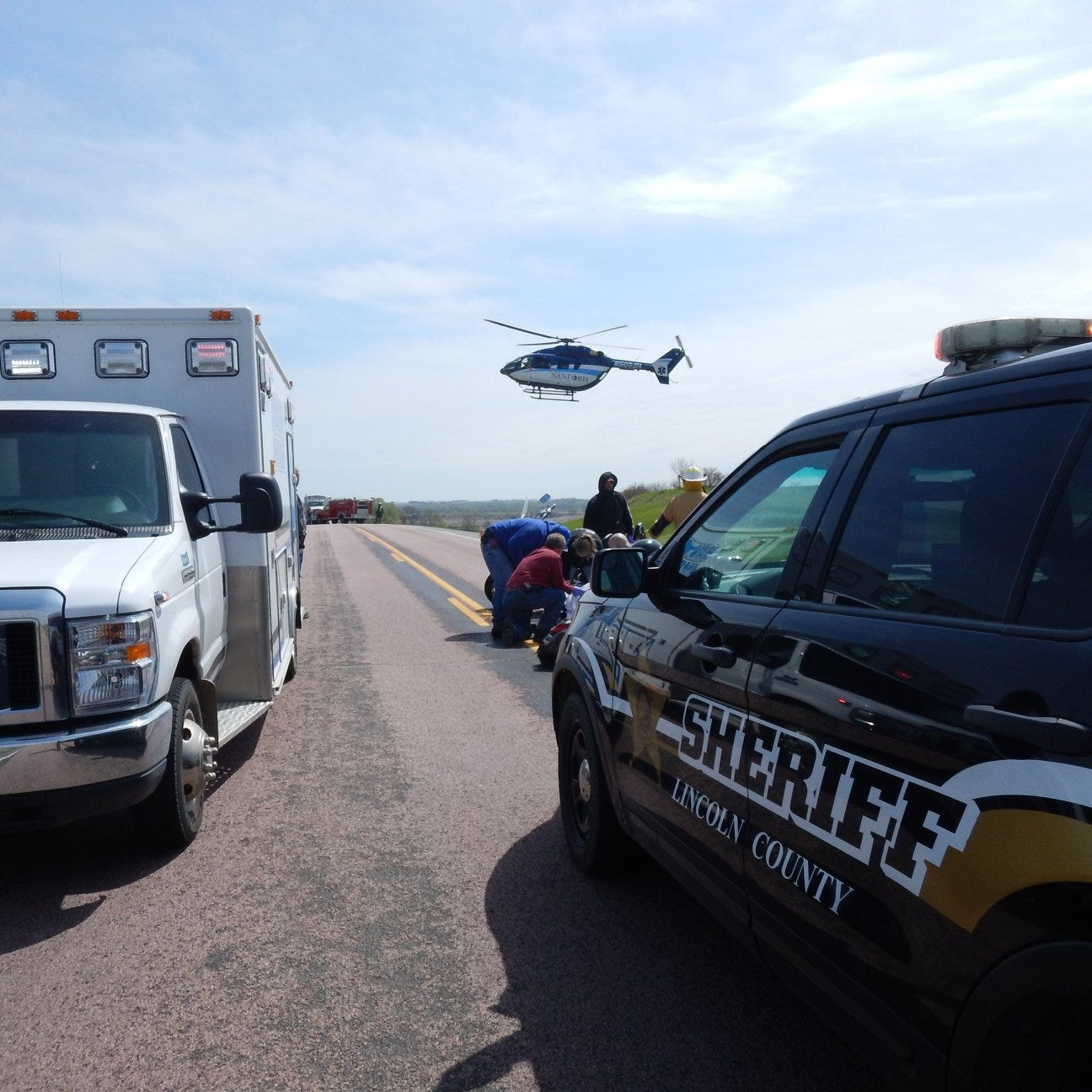 Equipment failure seriously injures motorcyclist in crash