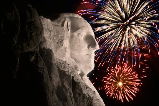 Fireworks at Mount Rushmore