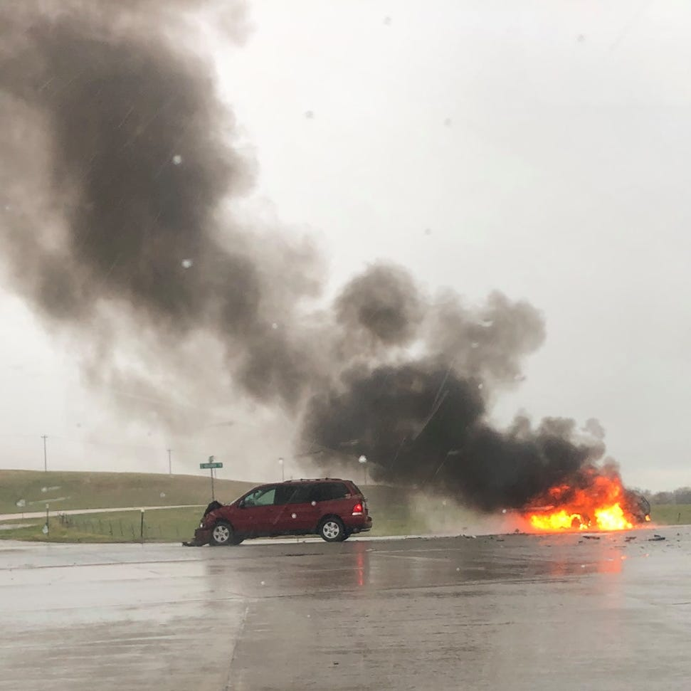 26-year-old dead after Pennington County vehicle fire, car crash