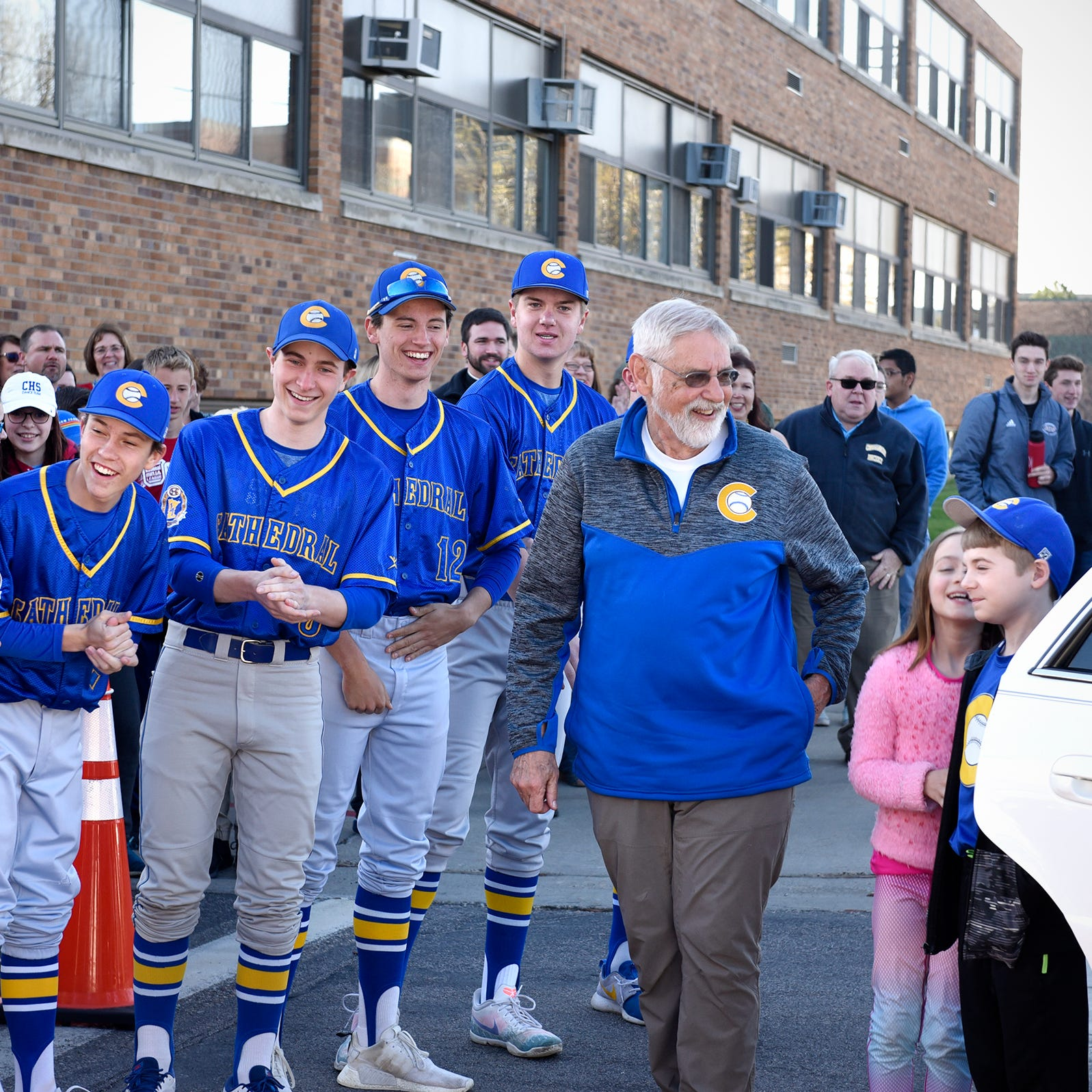 Cathedral honors Bob Karn for 50 years of teaching, coaching
