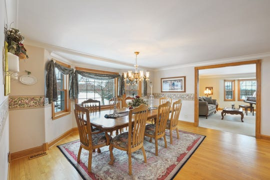 Just beyond the large foyer sits a generous dining room, the perfect size for bringing family and friends together.