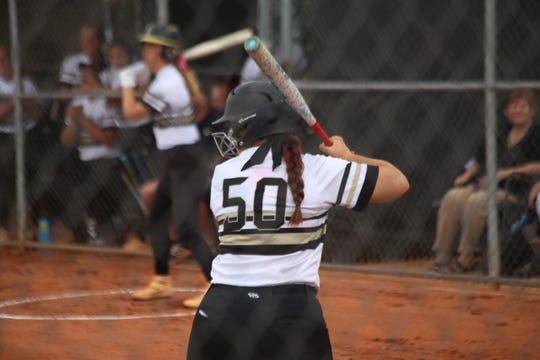 Desert Hills's Addi Betts gets in her batting stance.