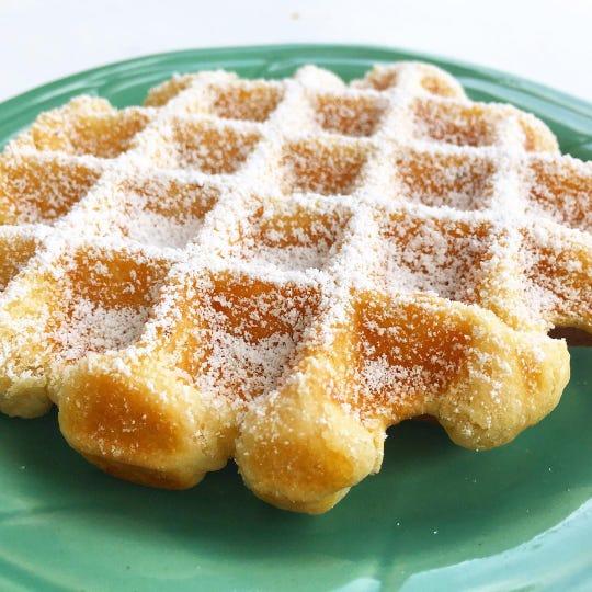 Belgian waffles at the Hideaway.