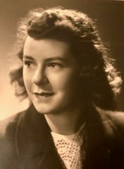 College photo of mother, Janet.
