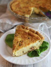 Surprise mom with an easy Ham and Cheese Quiche.