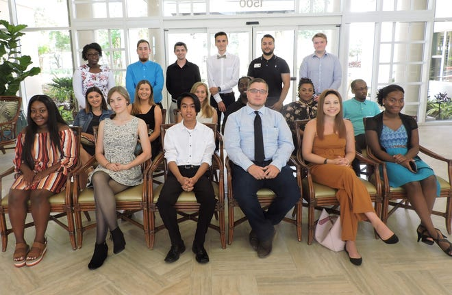 The Sandhill Cove Foundation distributed $93,300 in scholarship stipends to 30 people in May. Scholarships recipients were David Adler, Taylor Arendt, Anthony Armstrong, Aaron Arroyo, Orfeo Bacchiocchi, Tariq Bacon, Yolanda Boatwright, Bonnie Burandt, Cameron Lee Cardona, Olivia Dodge, Shannon Duggan, Cheyenna Duphren, Kerry Exantus, Terry Exantus, Darlie Gabriel, Mark Godkin, Bianca Hampton, Shelby Helms, Demetrius Johnson, Peyton Kneubehl, Saveya Levers, Devion Louis Pierre, Stephanie Mijares Pineda, Dalton Pohl, Sarah Poltroneiri, Shantia Reid, Austin Segala, Karina Teixeira,  Joronda Thompson and Michelle Truitt. Eighteen of these recipients are pictured here.