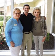 Lilly-Anne Bailey, left, scholarship recipient Taylor Arendt and Anne Holmberg at the Sandhill Cove Foundation scholarship presentation at Sandhill Cove Retirement Living in Stuart.