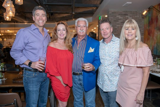 Jeremy Singer, left, Dina and Don Colantrello and Rick and Cay Batchelor at the Top Chef Martin County competition benefiting House of Hope.