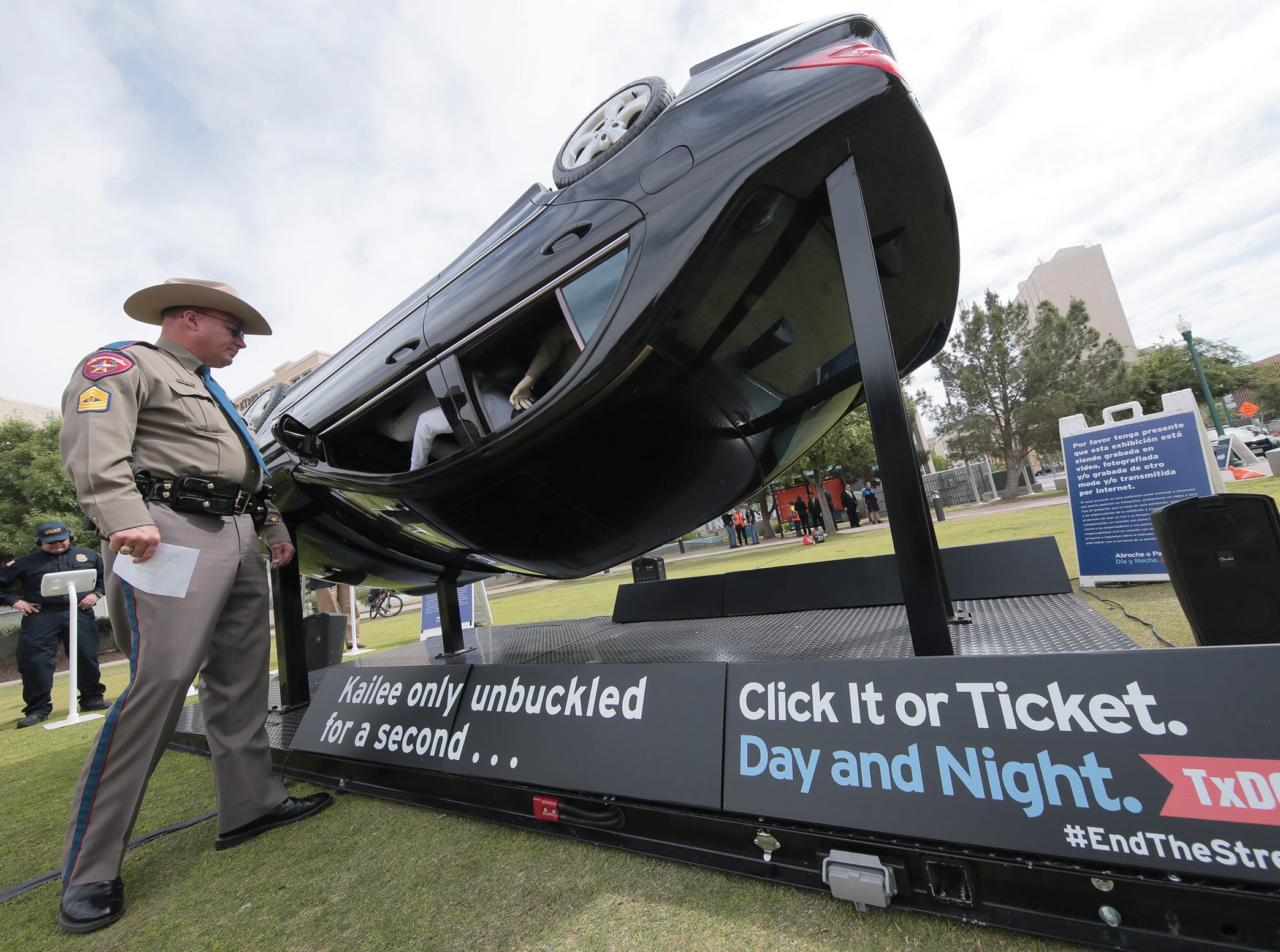 TxDOT kicked off their annual Click It or Ticket Campaign Tuesday at Cleveland Square in El Paso. The annual event reminds motorists to buckle up or face fines, or worse, death.
