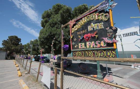 A sign at Chihuahua and Paisano reads, 'Duranguito, where El Paso was born.'