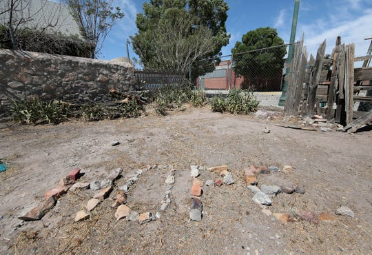'Hope' was spelled out in rock in a lot in Duranguito as the legal battle over the arena continues.