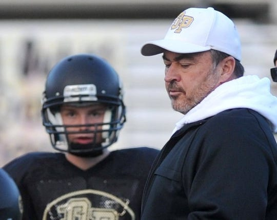 Terry Shorten, shown coaching Oak Park in 2013, stepped down after four seasons as the Malibu High head football coach, before the program became an 8-man program.
