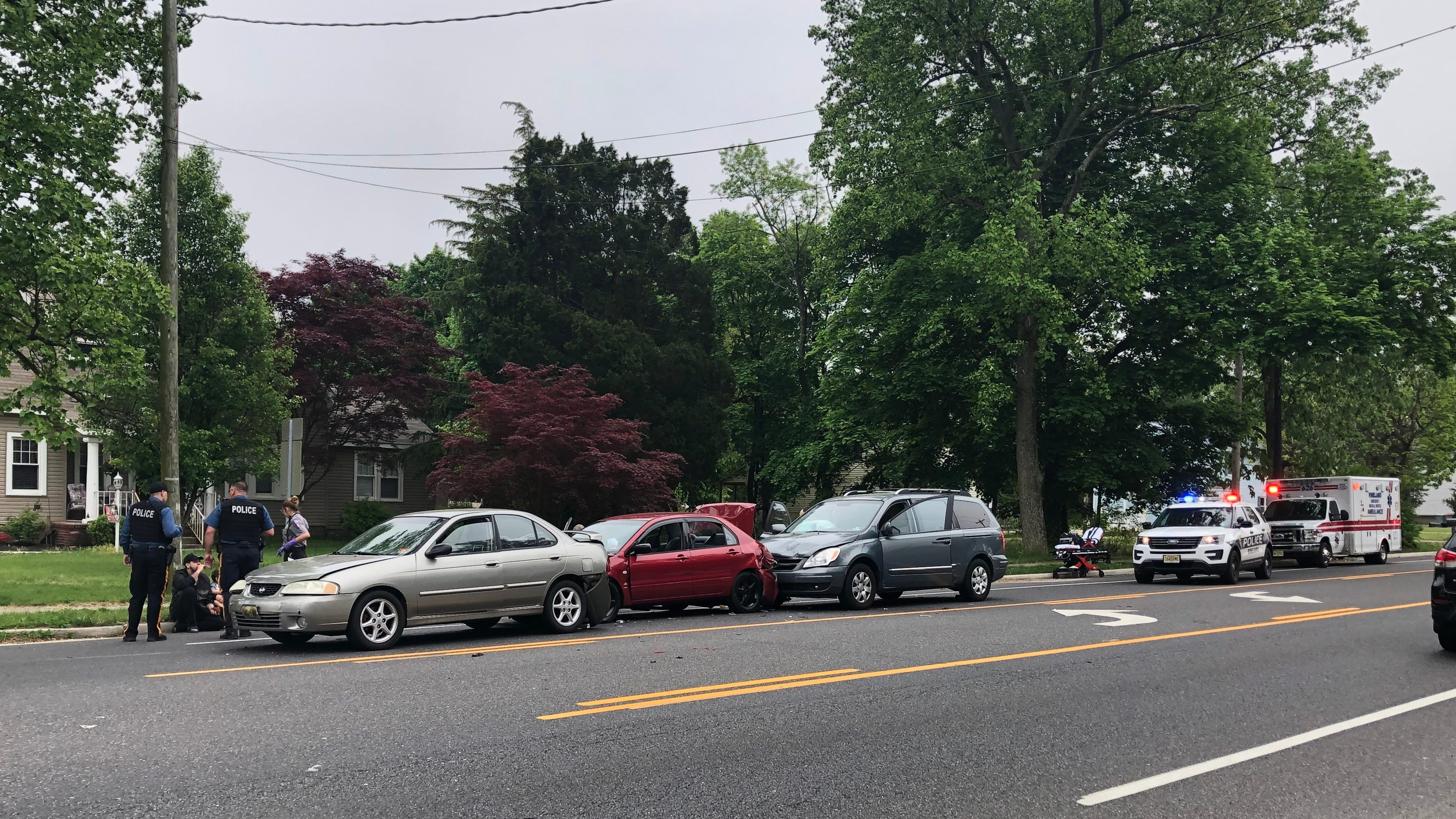 Vineland Police Cite Four Drivers In Main Road Crash