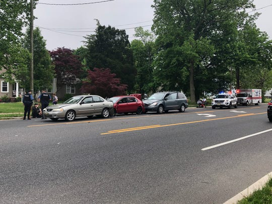 A chain-reaction collision on Main Road sent five people to Inspira Medical Center Vineland on May 4, 2019.