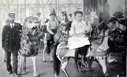 """Millville Historical Society will host an exhibit on the history of Luna Park, which included a carved, wood carousel. It will also host a public unveiling for """"Lunabelle,"""" a horse which was part of the carousel, on May 18."""