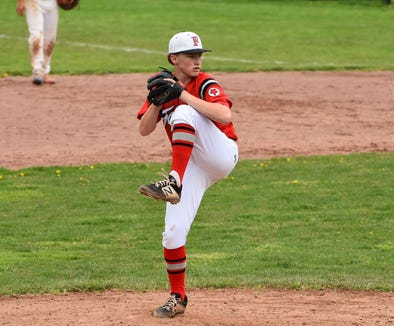 Fox Lane freshman Michael Lombardi was named lohud's Baseball Player of the Week on May 7, 2019.