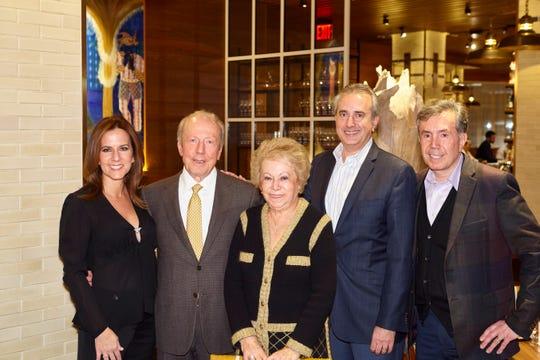 The Livanos family; left to right: Corina  John, Chrysa, Bill and Nick.