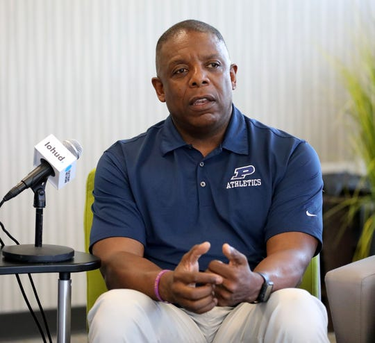 Chris Hodge, the assistant superintendent and in charge of athletics for the Poughkeepsie City School District, participates in a panel discussion about diversity, at the lohud offices in White Plains, May 7, 2019.