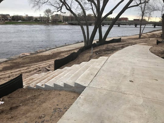 The new bike paths at East Riverbank Conservancy Area on May 7, 2019, after flooding left behind minor damage.