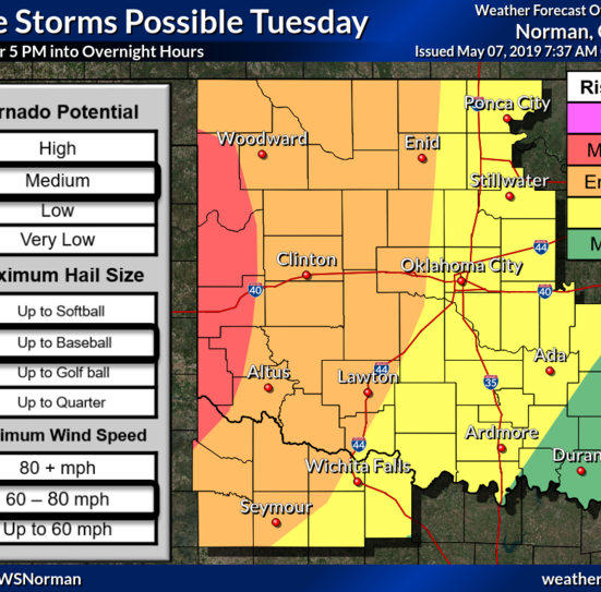 Wichita Falls area could face strong winds, flash flooding