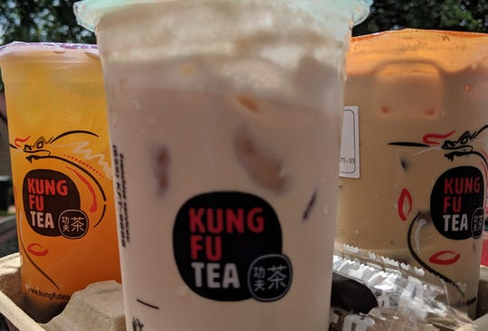Drinks from Kung Fu Tea.