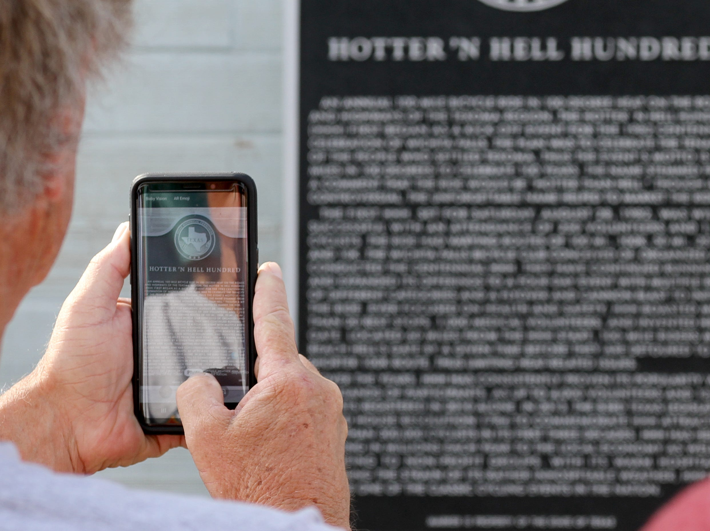 The Wichita County Historical Commission recognized the the Hotter'N Hell Hundred Monday, May 6, 2019, with an Official Texas Historical Marker at a dedication ceremony at the Hotter'N Hell Clubhouse at 104 Scott.