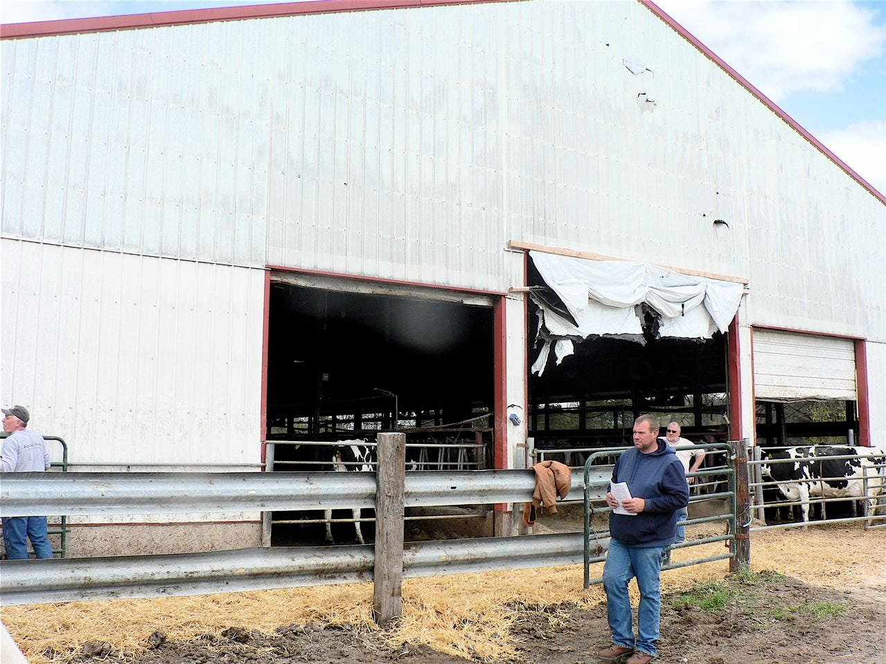The 2002 built freestall may house beef cattle in the future.