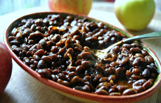 My mom's go-to for any family gathering was a big roaster full of baked beans, flavored with molasses and thick bacon from the Eden Meat Market.