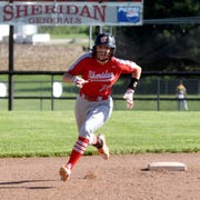 Taylor Pagan runs the bases during Sheridan's 13-0 win against Washington Court House on Monday in a Division II sectional game in Thornville.