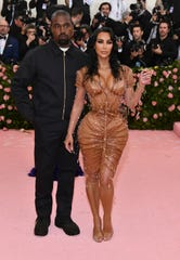 Kanye West with Kim Kardashian at The Metropolitan Museum of Art's Costume Institute benefit gala in May.