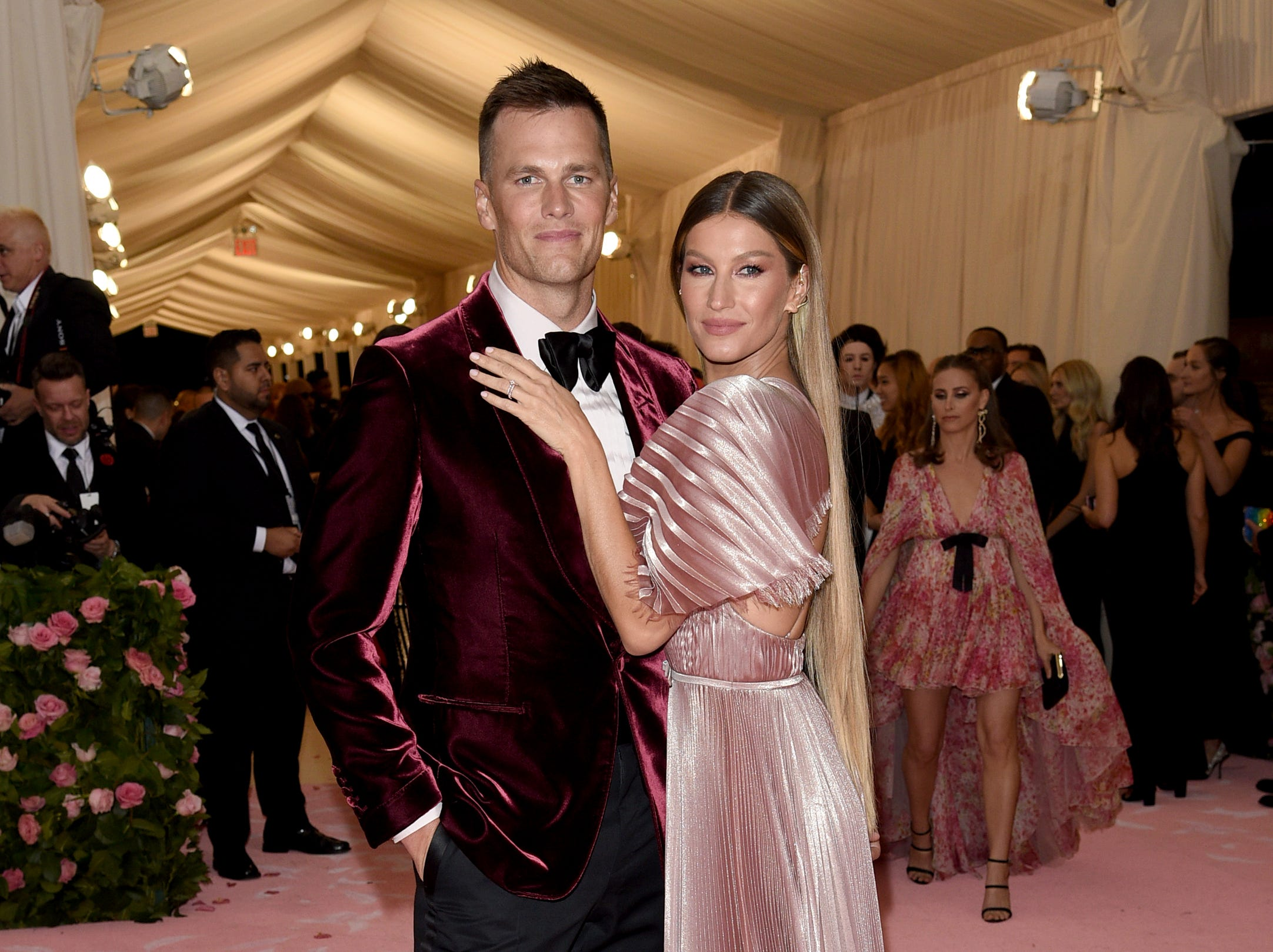 """Tom Brady and Gisele Bundchen attend The Metropolitan Museum of Art's Costume Institute benefit gala celebrating the opening of the """"Camp: Notes on Fashion"""" exhibition on Monday, May 6, 2019, in New York."""