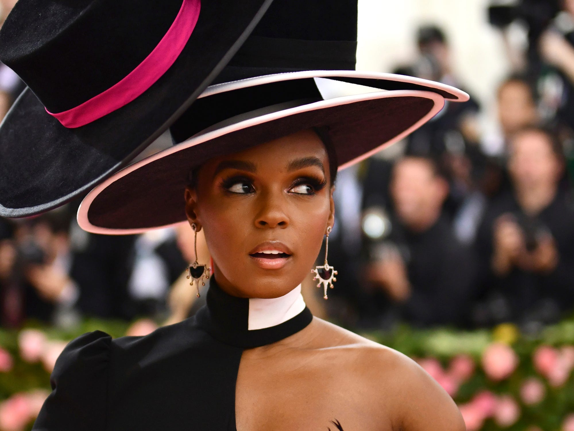 """Janelle Monae attends The Metropolitan Museum of Art's Costume Institute benefit gala celebrating the opening of the """"Camp: Notes on Fashion"""" exhibition on Monday, May 6, 2019, in New York. (Photo by Charles Sykes/Invision/AP) ORG XMIT: NYJW348"""