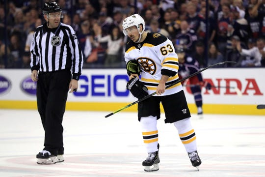 Bruins left wing Brad Marchand has 13 points in the playoffs.