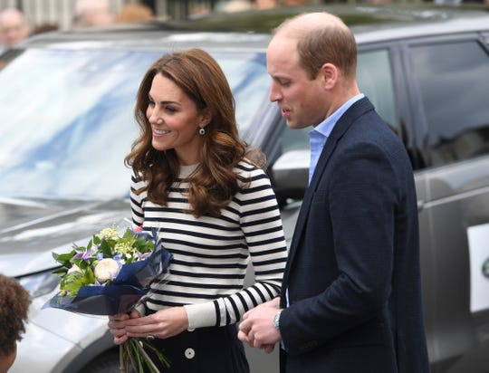 Duchess Kate and Prince William arrive to the Cutty Sark in south London, Britain on May 7, 2019.