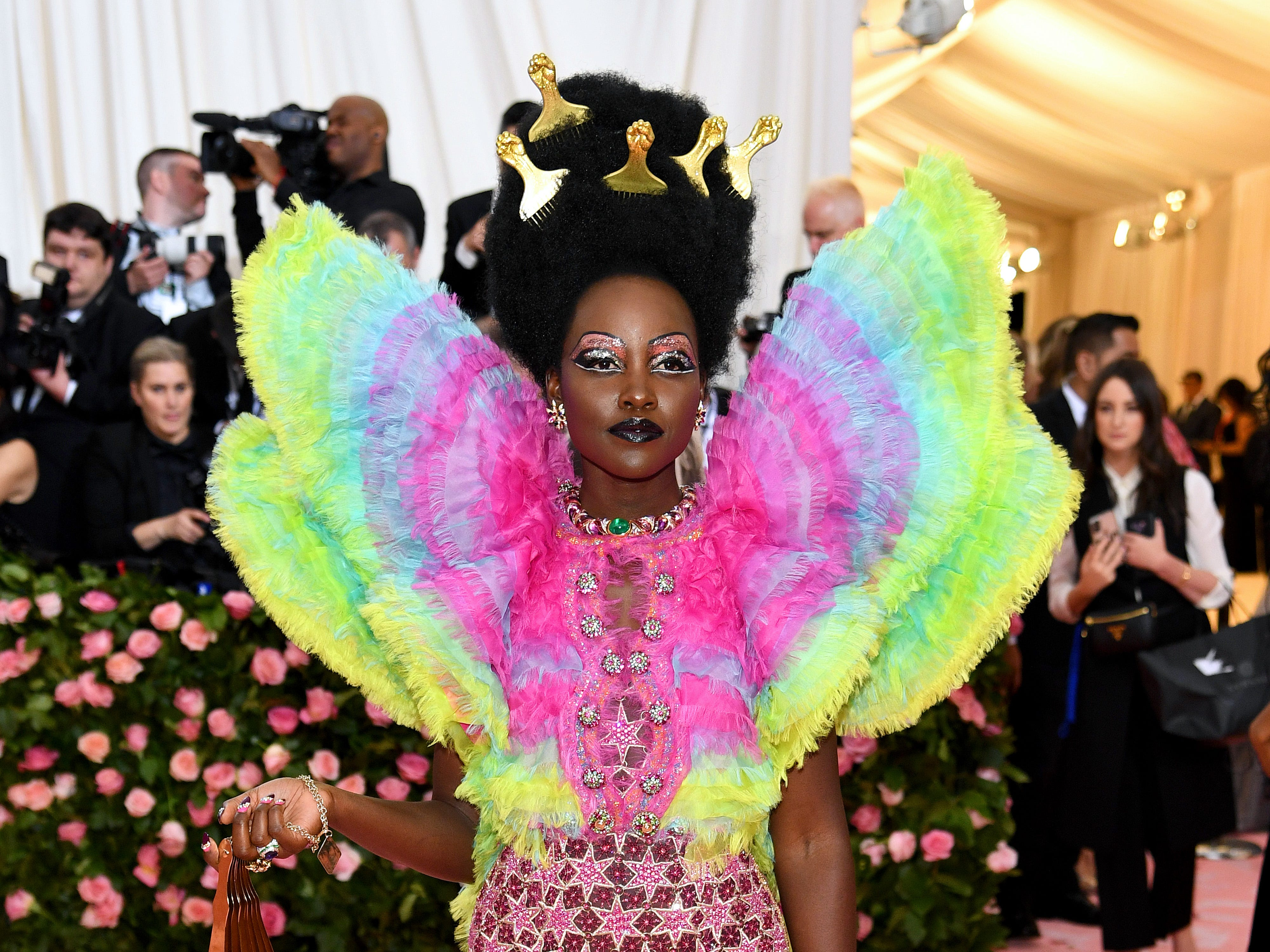 NEW YORK, NEW YORK - MAY 06: Lupita Nyong'o attends The 2019 Met Gala Celebrating Camp: Notes on Fashion at Metropolitan Museum of Art on May 06, 2019 in New York City. (Photo by Dimitrios Kambouris/Getty Images for The Met Museum/Vogue) ORG XMIT: 775333959 ORIG FILE ID: 1147432991