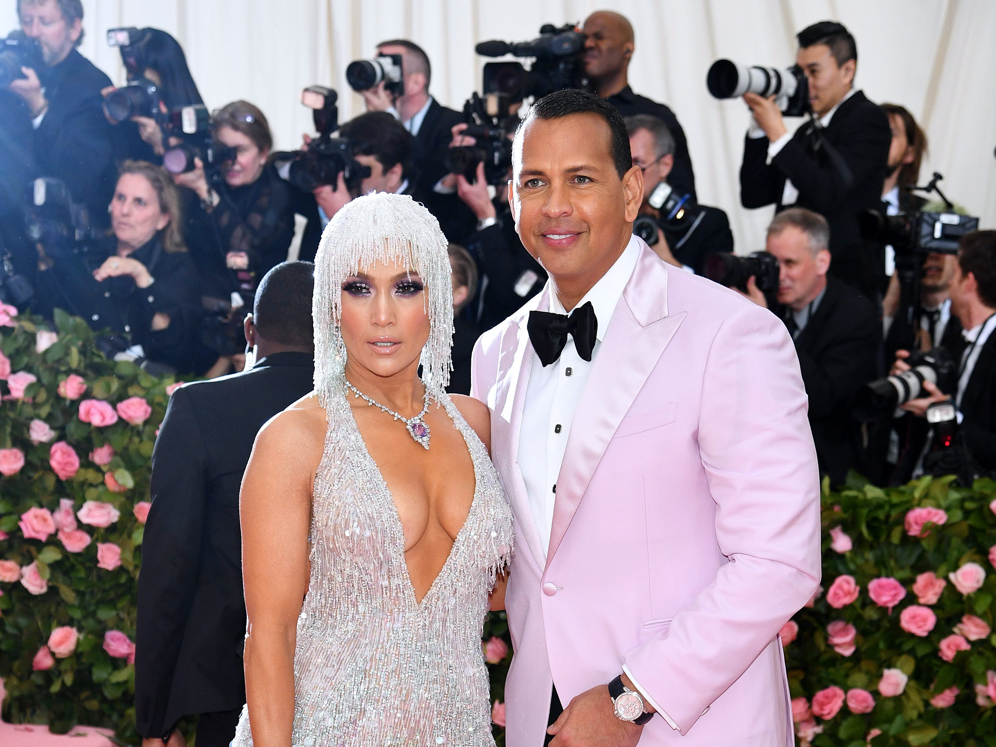 NEW YORK, NEW YORK - MAY 06: Jennifer Lopez and Alex Rodriguez attend The 2019 Met Gala Celebrating Camp: Notes on Fashion at Metropolitan Museum of Art on May 06, 2019 in New York City. (Photo by Dimitrios Kambouris/Getty Images for The Met Museum/Vogue) ORG XMIT: 775333959 ORIG FILE ID: 1147431617