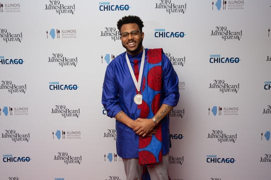 Kwame Onwuachi of Kith and Kin in Washington, D.C, was named rising star chef of the year.