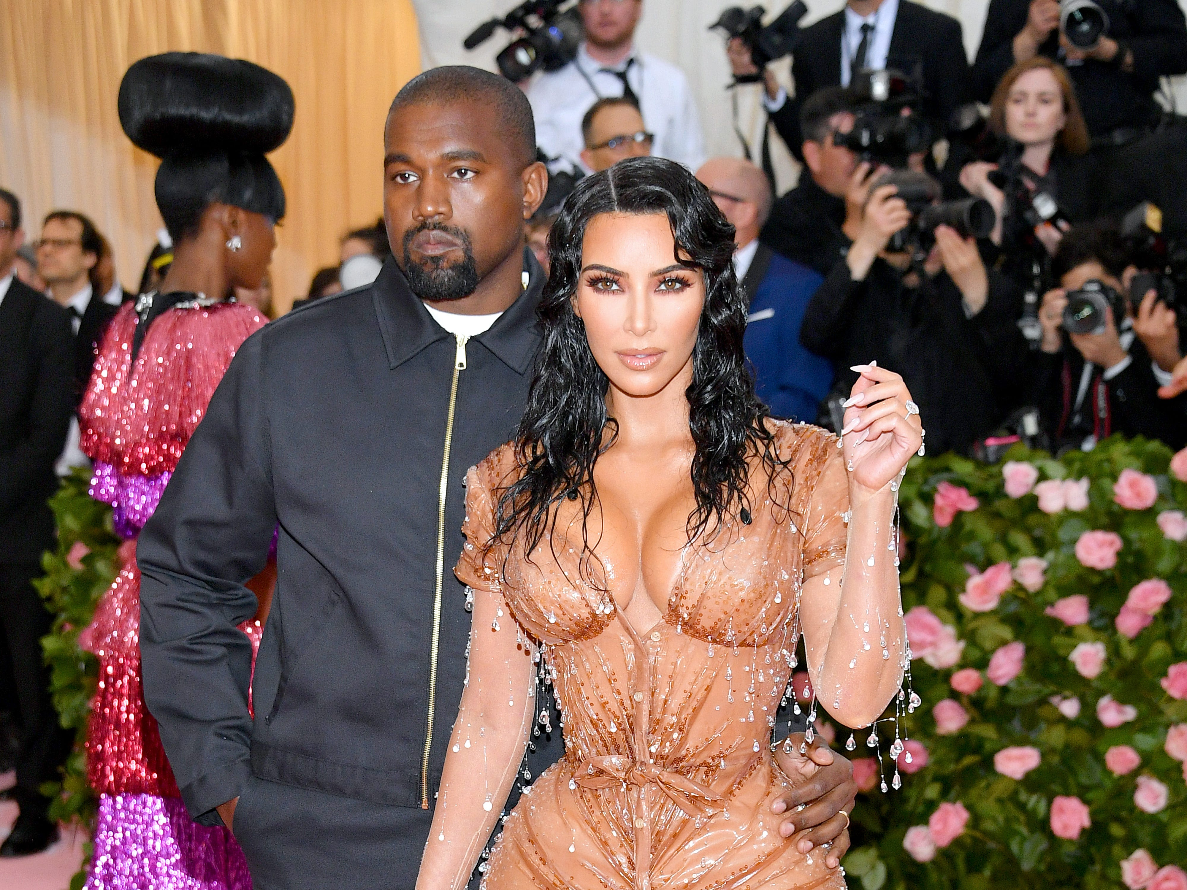 NEW YORK, NEW YORK - MAY 06: Kanye West and Kim Kardashian attend The 2019 Met Gala Celebrating Camp: Notes on Fashion at Metropolitan Museum of Art on May 06, 2019 in New York City. (Photo by Dia Dipasupil/FilmMagic) ORG XMIT: 775333959 ORIG FILE ID: 1147427493