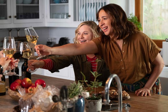 """Amy Poehler, left, pictured with Maya Rudolph, directs and stars in """"Wine Country."""""""