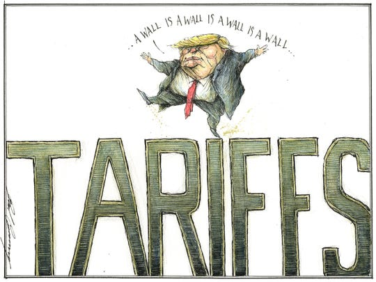 Trump tariff wall