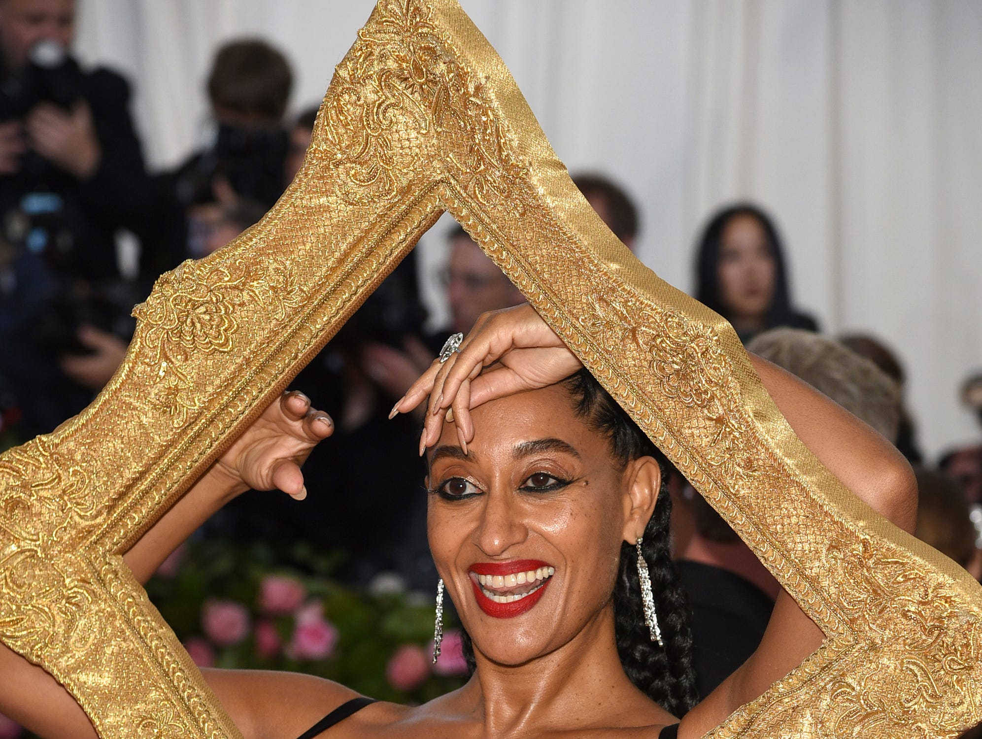 """Tracee Ellis Ross attends The Metropolitan Museum of Art's Costume Institute benefit gala celebrating the opening of the """"Camp: Notes on Fashion"""" exhibition on Monday, May 6, 2019, in New York. (Photo by Evan Agostini/Invision/AP) ORG XMIT: NYKV263"""