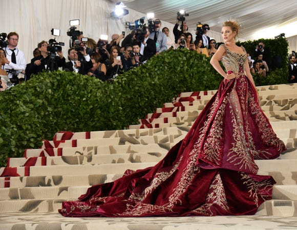 """Blake Lively went all out last year for the theme """"Heavenly Bodies: Fashion and the Catholic Imagination."""""""