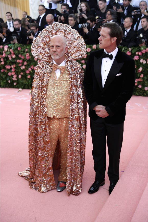 Ryan Murphy rocked a look encrusted in gems and pearls.