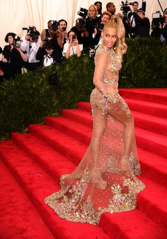 "Beyonce turned heads in 2015, following the theme ""China: Through the Looking Glass."""
