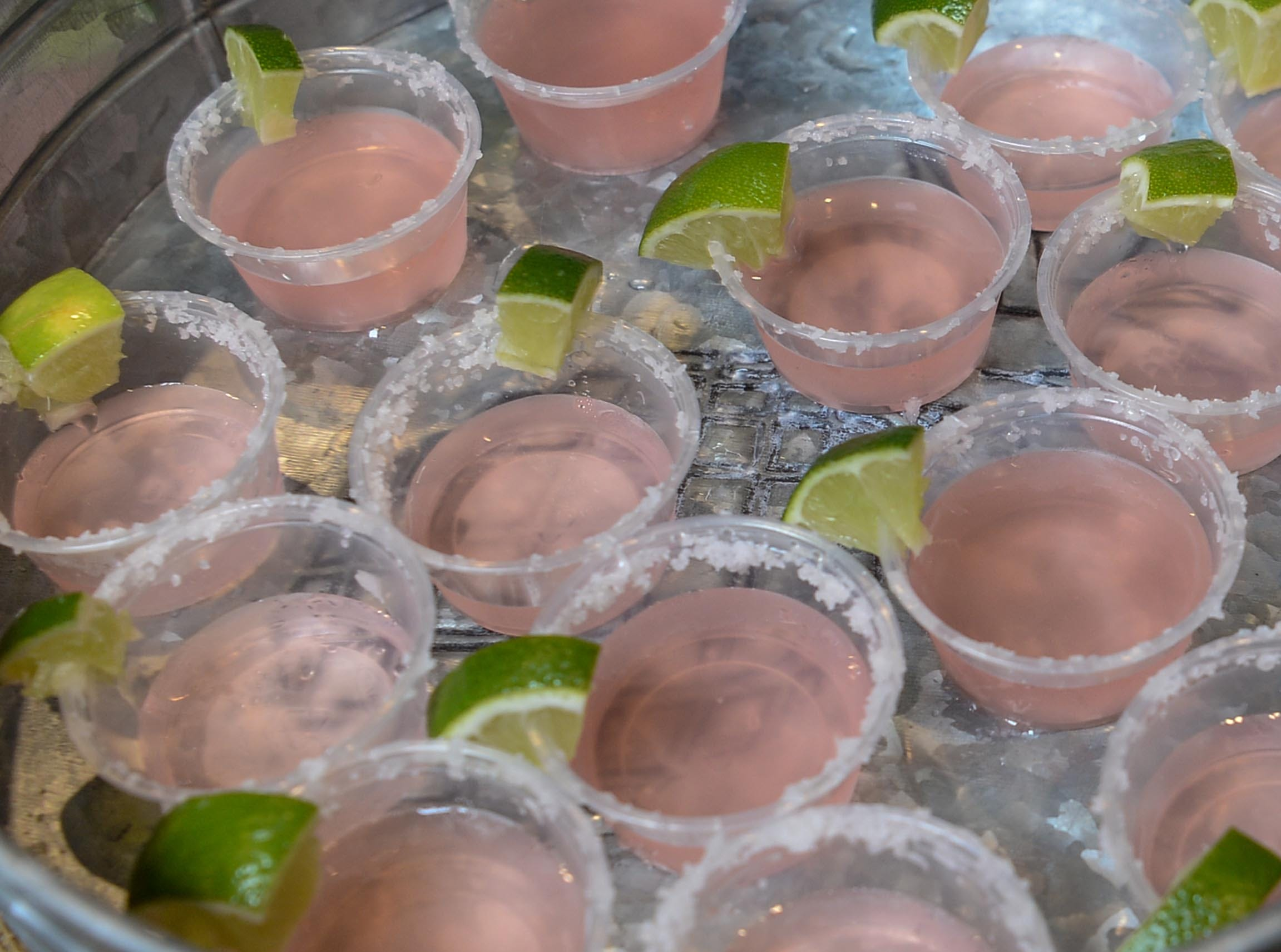 DT Taco of downtown Anderson made a watermelon margarita for the Anderson Area YMCA Ralph Hayes Toyota Taste of Anderson at The Bleckley Station Tuesday. Proceeds from the Aloha theme party benefit programs and services of the Anderson Area YMCA.
