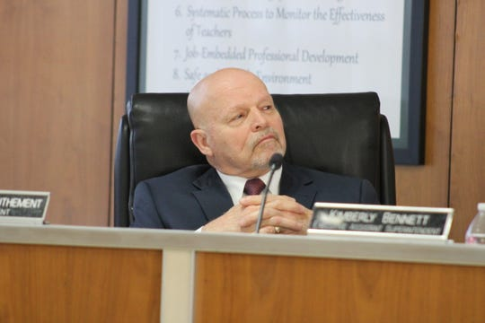 """Outgoing Rapides Parish School Superintendent Nason """"Tony"""" Authement recommended that the board hire a public information officer. The motion passed by a 7-2 vote."""