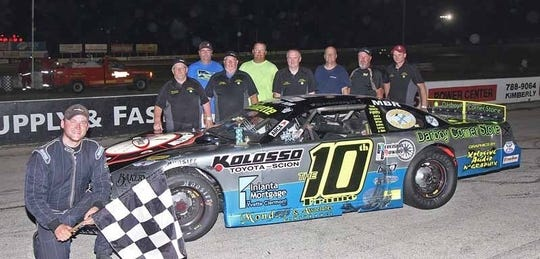 Appleton's Andy Monday, left, and his crew will compete in the TUNDRA super late model race at Wisconsin International Raceway on Saturday night.