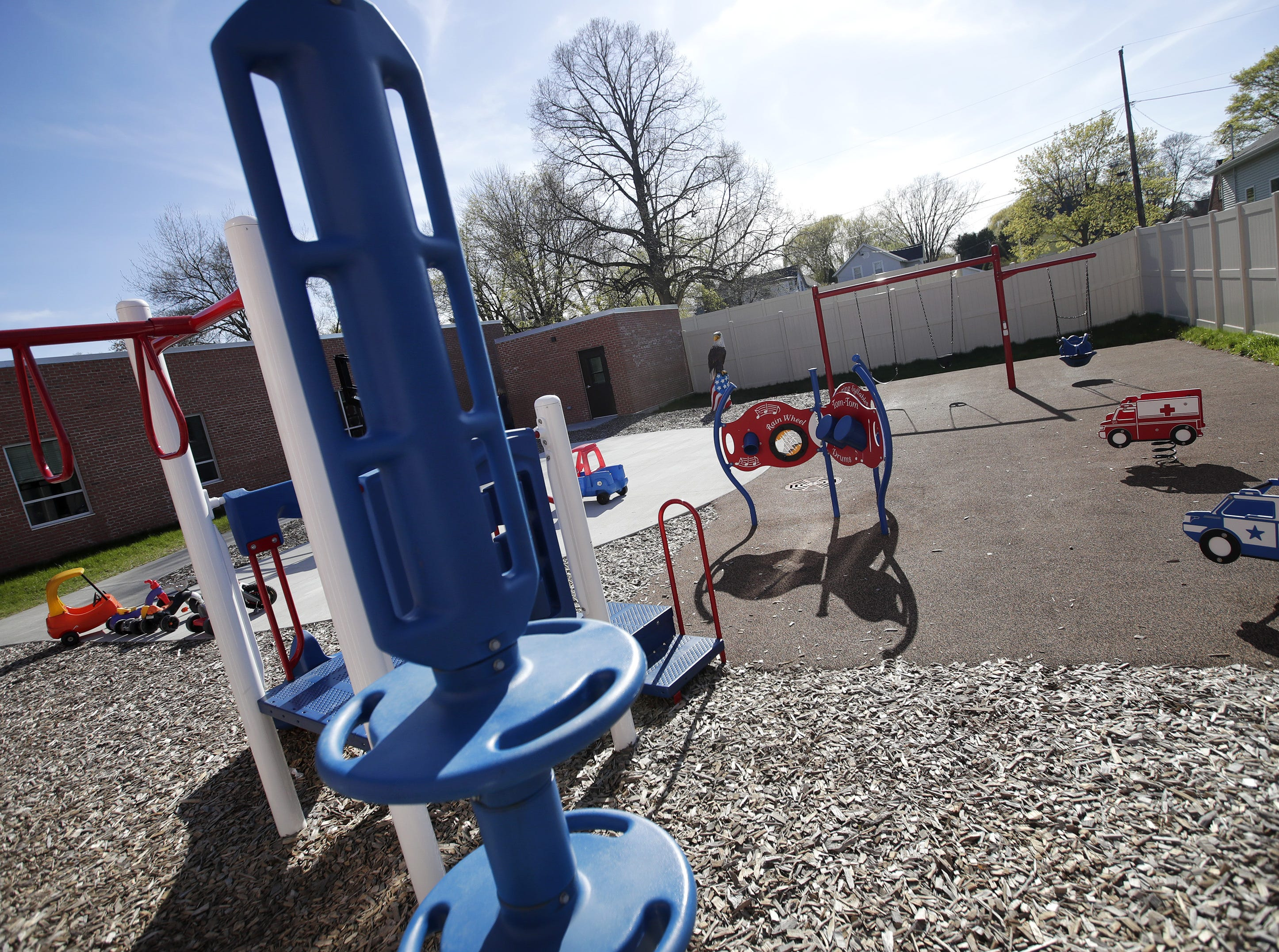 A new playground at Harbor House Domestic Abuse Programs in Appleton, which showed off its expanded facility at an open house Tuesday.