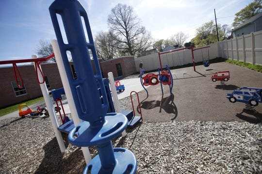 A new playground is in place at Harbor House Domestic Abuse Programs in Appleton, which showed off its expanded facility at an open house Tuesday.
